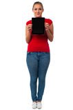 This is my new tablet pc Royalty Free Stock Images