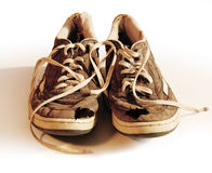 My old friends. Stinky gym shoes with clipping path Royalty Free Stock Photography