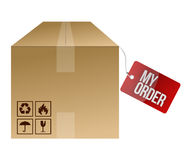 My order shipping box Royalty Free Stock Photo