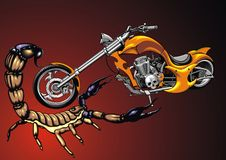 My original design motorbike and scorpio Royalty Free Stock Images