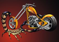 My original design motorbike and scorpio Royalty Free Stock Photos