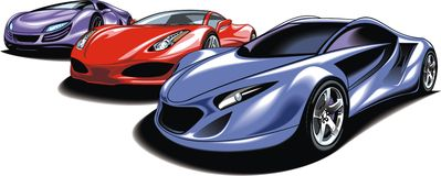 My original sport cars design Royalty Free Stock Images