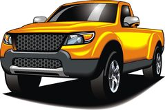 My original 4x4 car (my design) in yellow color Royalty Free Stock Photo