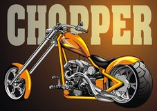 My original yellow motorbike chopper design Royalty Free Stock Photos