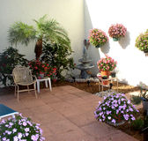 My Patio. In southwestern Florida, a place of peace and relaxation stock image
