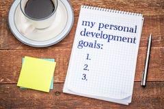 My personal development goals list Stock Photo