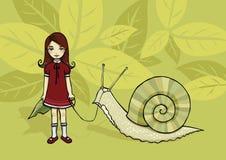 My pet snail Stock Photography