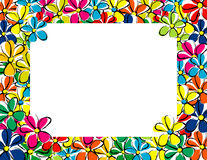 My photo frame. Floral frame for portraits and pictures Stock Illustration
