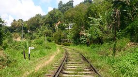 My photo. This is a railway in bandarawela. this place are most beautiful place in bandarawela stock photo
