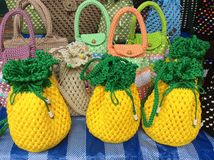 My pineapple knitting bag. Stock Image