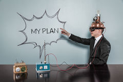 My Plan concept with vintage businessman Royalty Free Stock Photos