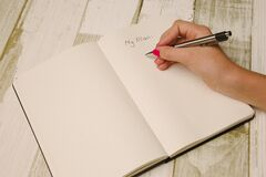 My Plan in notebook Royalty Free Stock Photos