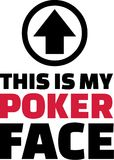 This is my poker face. Vector royalty free illustration