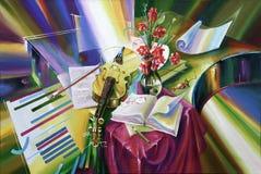 Artwork. Enlightenment of the composer. Author: Nikolay Sivenkov. stock illustration