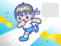My power to reach the finish sprinter mascot. Sports Character D Royalty Free Stock Images