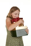 My presents girl child Royalty Free Stock Photography