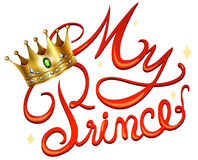 My princess with crown. Illustration Royalty Free Stock Photo