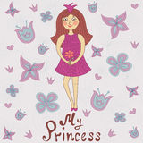 My princess. Cute romantic shower card Stock Photography