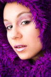 My purple hood Royalty Free Stock Images