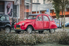 My Red Love!. A view from a famous and old fancy design of Citroen - March 2017, Groningen Netherlands Royalty Free Stock Photo
