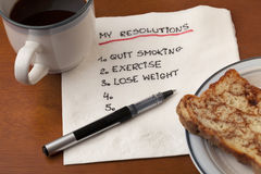 My resolution - napkin concept Stock Photos