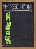 My resolutions list royalty free stock photography
