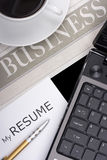 My Resume Stock Photography
