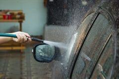 Myć samochód Obrazy Royalty Free