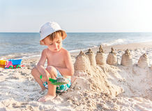 My sand castle will be most beautiful! Stock Image