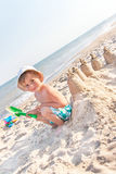 My sand castle will be most beautiful! Royalty Free Stock Images