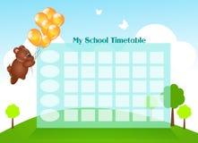 My School Timetable Royalty Free Stock Photos