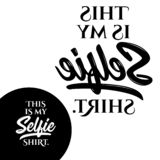 This is my Selfie shirt. Typography poster. Conceptual handwritten text. Hand letter script word art design. Good for t shirts, posters, greeting cards stock illustration