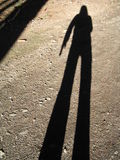 My Shadow. In autumn Royalty Free Stock Photography