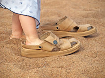 Is this my shoes? Royalty Free Stock Photos