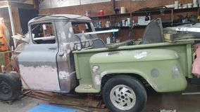 1957 Chevy Truck restoration. My shop has been doing restoration on a 57 apache Stock Photos