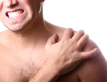 My Shoulder Hurts! Royalty Free Stock Image