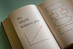 My simple business plan Stock Photo