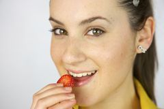 My skin can get better eating fruit Stock Photo