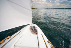 My small yacht - sailing on the lake Stock Image