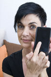 My smart phone and me Stock Images