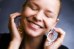 My Smile. A model smiling in the studio Stock Photography