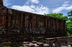 My son Heritage world. My Son Champa tower is the cluster of ancient Champa kingdom. My Son Sanctuary of Quang Nam, Vietnam Stock Image