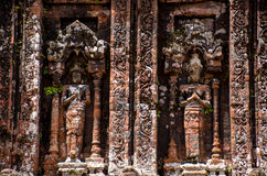 My son Heritage world. My Son Champa tower is the cluster of ancient Champa kingdom. My Son Sanctuary of Quang Nam, Vietnam Stock Photo