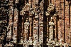 My son Heritage world. My Son Champa tower is the cluster of ancient Champa kingdom. My Son Sanctuary of Quang Nam, Vietnam royalty free stock photo