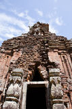 My son Heritage world. My Son Champa tower is the cluster of ancient Champa kingdom. My Son Sanctuary of Quang Nam, Vietnam Stock Photography