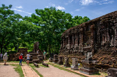 My son Heritage world. Historical Relic cultural heritage Unesco World My Son, Quang Nam, Vietnam royalty free stock photography