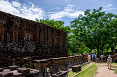 My son Heritage world. Historical Relic cultural heritage Unesco World My Son, Quang Nam, Vietnam royalty free stock image
