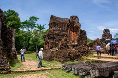 My son Heritage world. Historical Relic cultural heritage Unesco World My Son, Quang Nam, Vietnam Stock Image