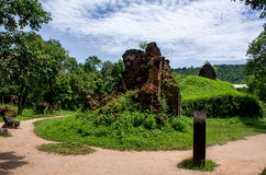 My son Heritage world. Historical Relic cultural heritage Unesco World My Son, Quang Nam, Vietnam stock photography