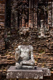 My son Heritage world. Historical Relic cultural heritage Unesco World My Son, Quang Nam, Vietnam royalty free stock photo